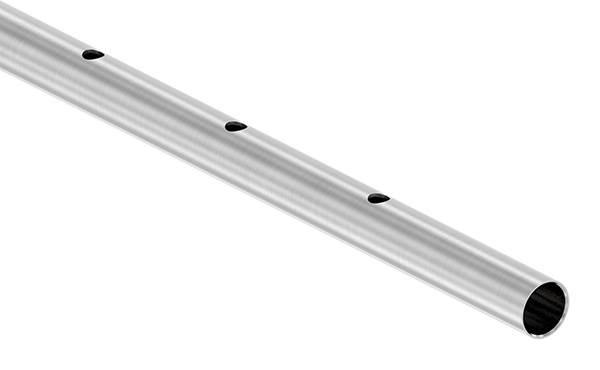 Rundrohr Ø 33,7 x 2,0 mm einseitig gelocht á 3 m
