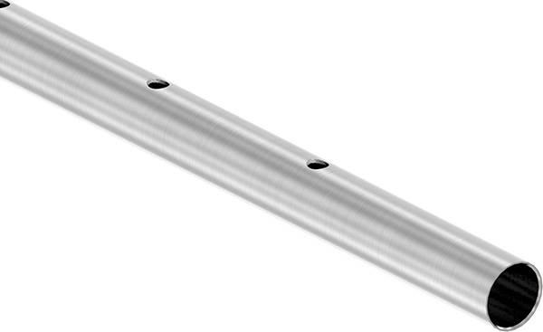 Rundrohr Ø 42,4 x 2,0 mm einseitig gelocht á 3 m