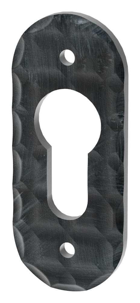 Schlüsselrosette | Maße: 72x30 mm | Stahl (Roh) S235JR