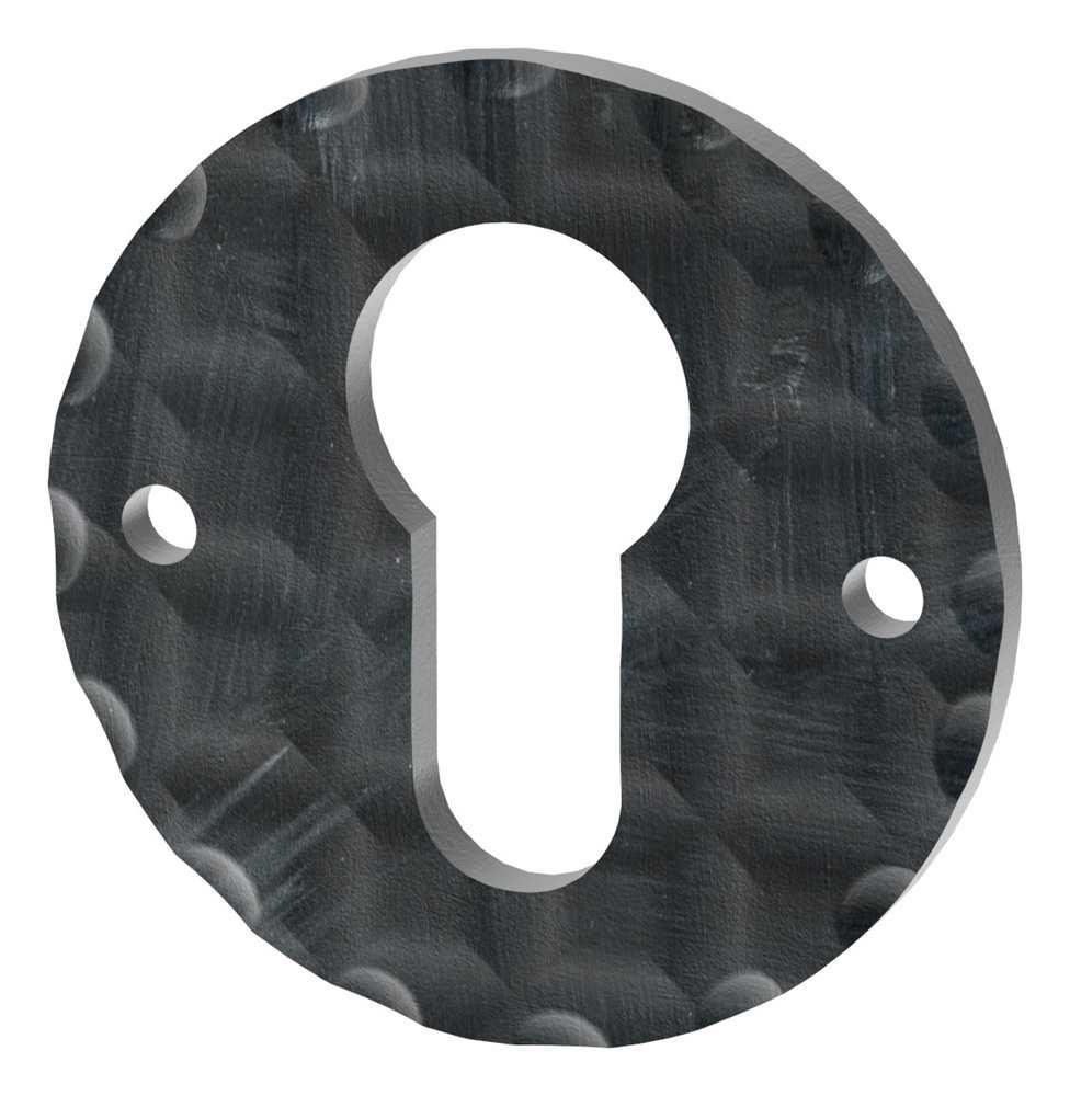 Schlüsselrosette | Maße: Ø 50 mm | Stahl (Roh) S235JR