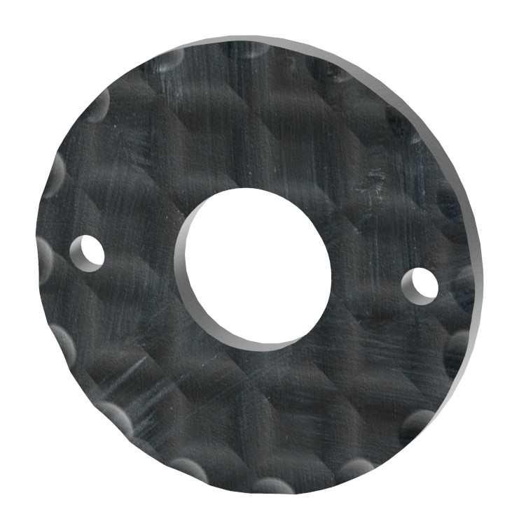 Drückerrosette | Maße: Ø 50 mm | Stahl (Roh) S235JR