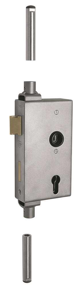 Schlosskasten | für Mehrfachverriegelung |  Maße: 40x94x173 mm | Stahl S235JR, roh