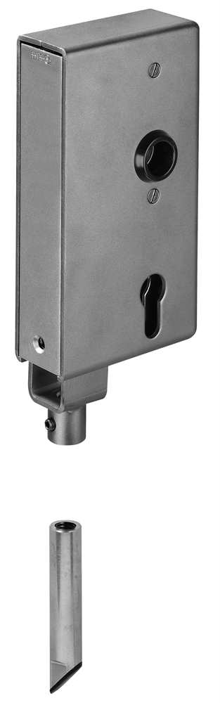 Schlosskasten | für Verriegelung nach unten | Maße: 40x94x173 mm | Stahl S235JR, roh