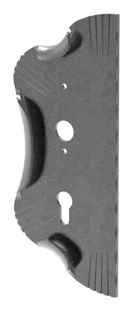 Schlossplatte links | Maße: 120x290x4 mm | Stahl S235JR, roh
