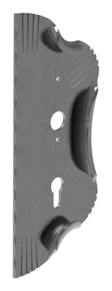 Schlossplatte rechts | Maße: 120x290x4 mm | Stahl S235JR, roh