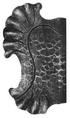 Schlossplatte links | Maße: 155x270x4 mm | Stahl S235JR, roh | Stahl S235JR, roh