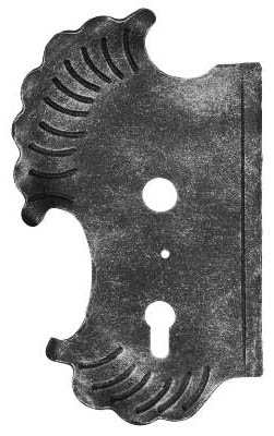 Schlossplatte links | Maße: 148x240x3 mm | Dornmaß: 60 mm | Stahl S235JR, roh