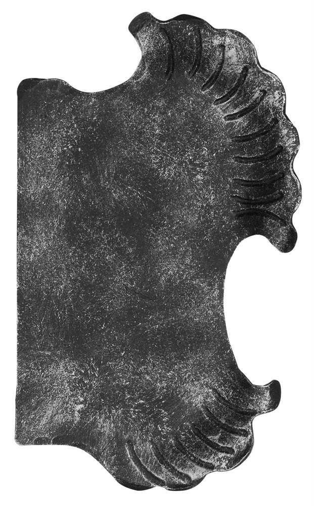 Schlossplatte rechts | Maße: 148x240x3 mm | Stahl S235JR, roh
