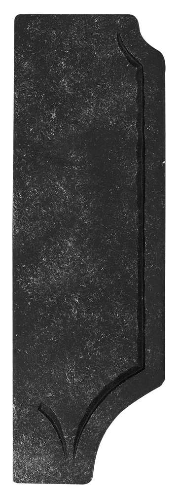 Schlossplatte rechts | Maße: 119x260x4 mm | Stahl S235JR, roh