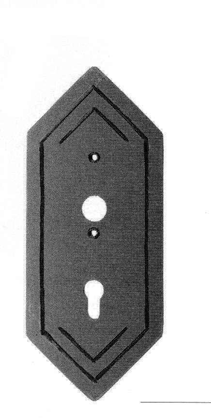Schlossplatte | Maße: 123x295x4 mm | Stahl S235JR, roh