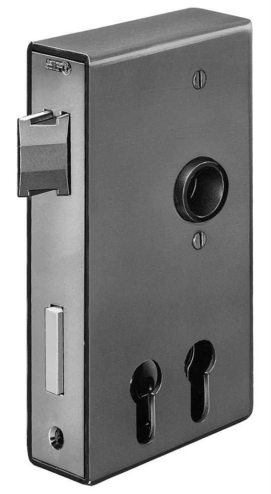 Schlosskasten | für 2 Profilzylinder | Maße: 40x94,5x173 mm | Stahl S235JR, roh