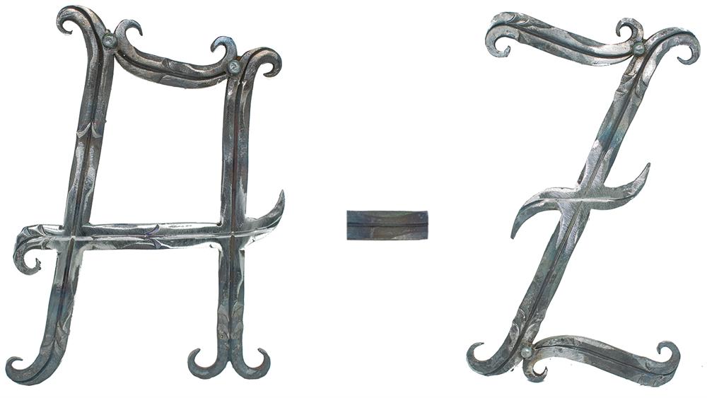 Buchstabe | A - Z | Groß | Maße: 180 x 100 mm | Stahl (Roh) S235JR