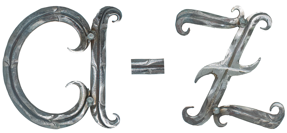 Buchstabe | a - z | Klein | Maße: 100 x 80 mm | Stahl (Roh) S235JR