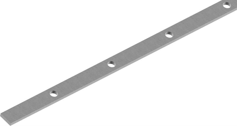 Flacheisen gelocht | Länge: 3000 mm | 49 Lochungen | Stahl (Roh) S235JR
