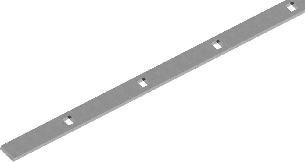 Flacheisen gelocht | Länge: 2000 mm | 33 Lochungen | Stahl (Roh) S235JR