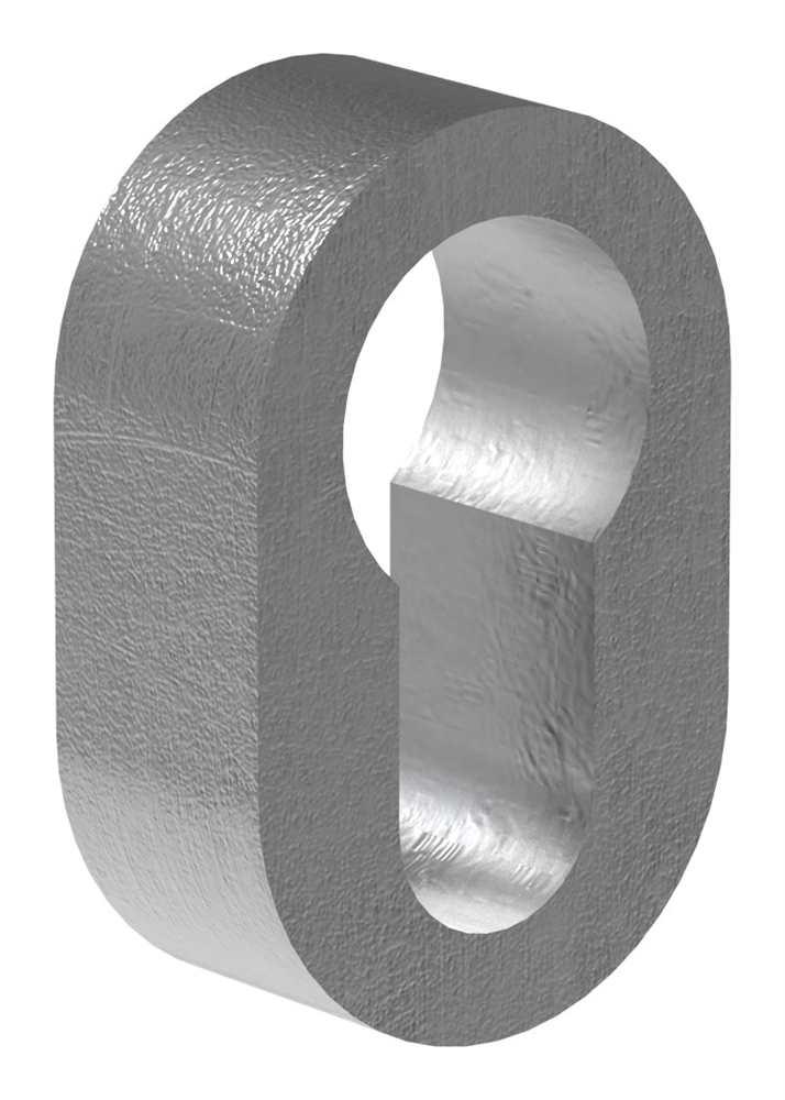 Sicherheitsrosette | Maße: 29x45x15 mm | Stahl S235JR, roh