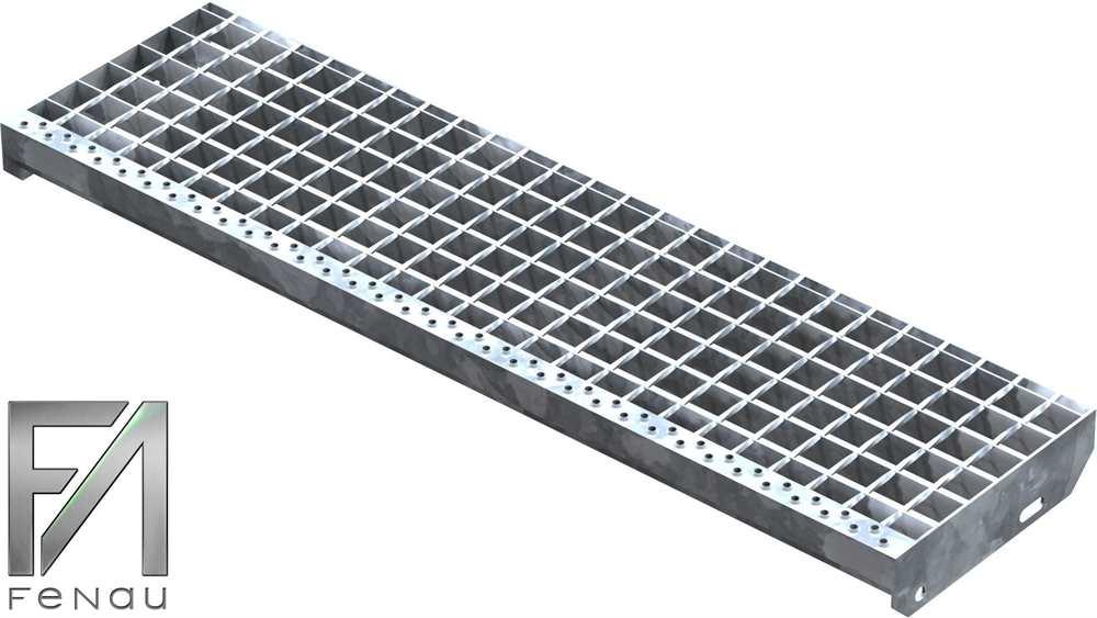 Schweißpress Gitterroststufe | Maße: 1000x270 mm 34/38 mm | S235JR (St37-2)
