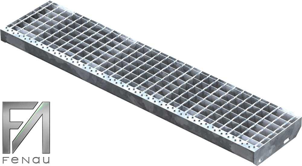 Schweißpress Gitterroststufe | Maße: 1200x270 mm 34/38 mm | S235JR (St37-2)