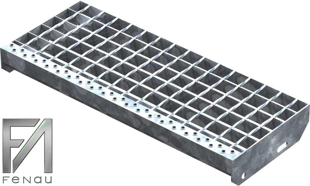 Schweißpress Gitterroststufe | Maße: 600x240 mm 34/38 mm | S235JR (St37-2)