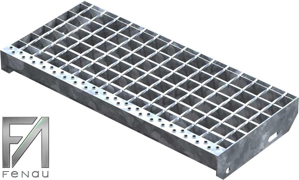 Schweißpress Gitterroststufe | Maße: 600x270 mm 34/38 mm | S235JR (St37-2)