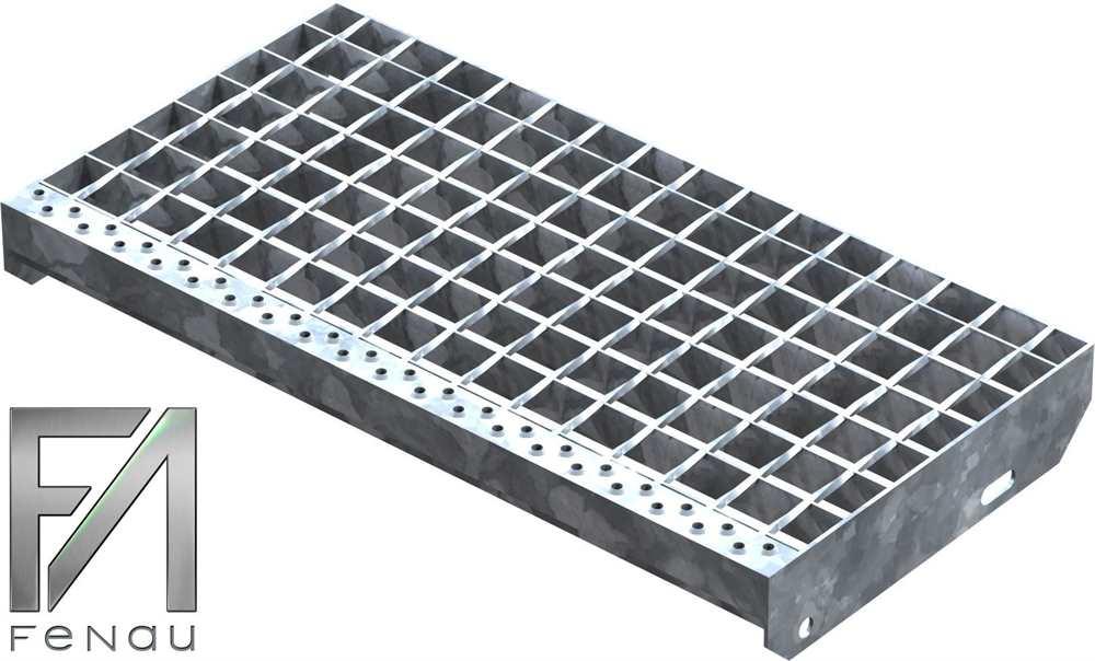 Schweißpress Gitterroststufe | Maße: 600x305 mm 34/38 mm | S235JR (St37-2)