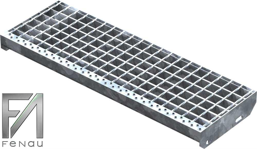 Schweißpress Gitterroststufe | Maße: 800x270 mm 34/38 mm | S235JR (St37-2)