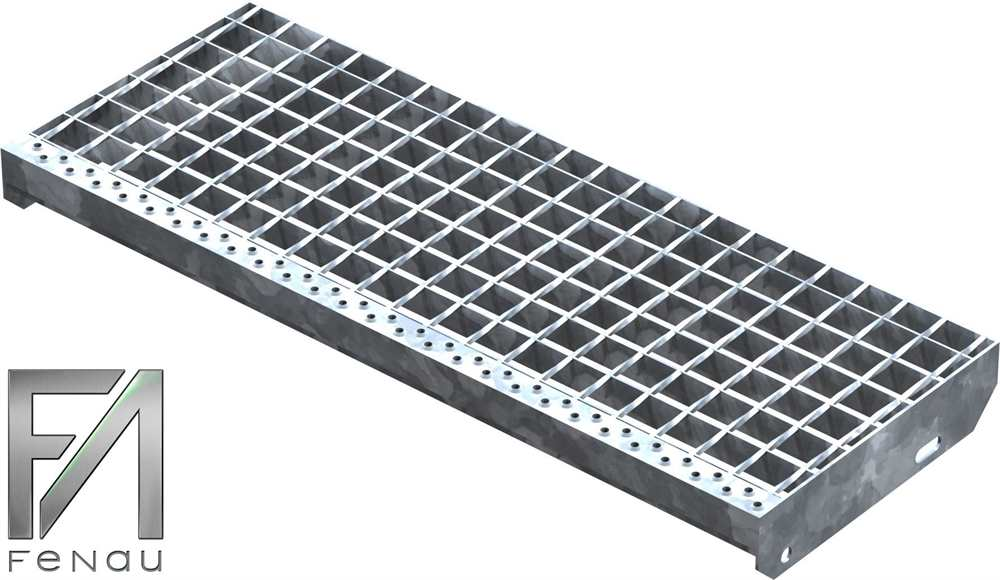 Schweißpress Gitterroststufe | Maße: 800x305 mm 34/38 mm | S235JR (St37-2)