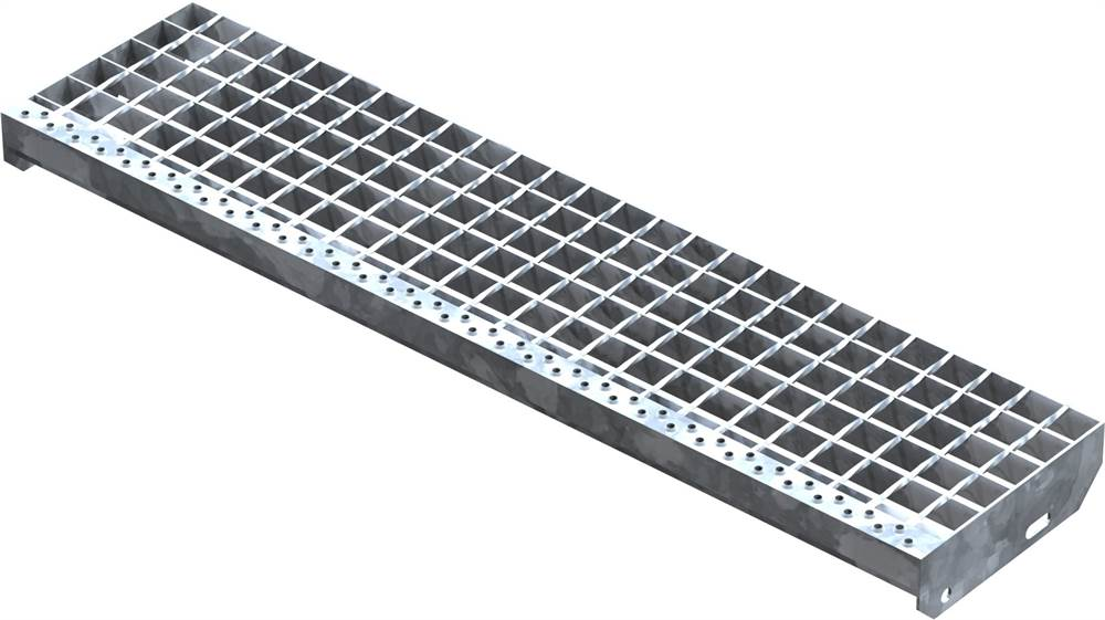 Schweißpress Gitterroststufe | Maße: 1000x240 mm 34/38 mm | S235JR (St37-2)