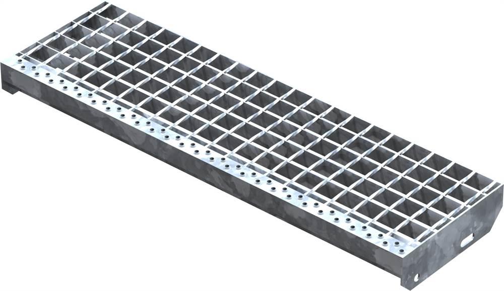 Schweißpress Gitterroststufe | Maße: 800x240 mm 34/38 mm | S235JR (St37-2)