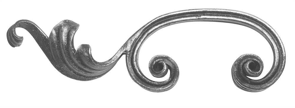 Schwerbarock | links | Maße: 60x200 mm | Stahl S235JR, roh