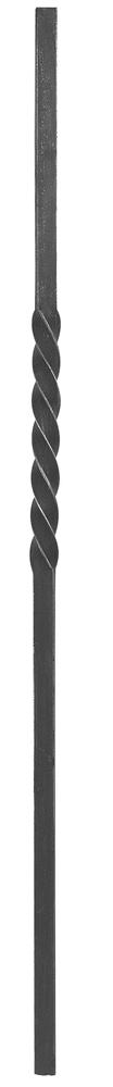 Anfangsstab | Pfosten | Länge: 1200 mm | Material: 25x25 mm | Stahl S235JR, roh