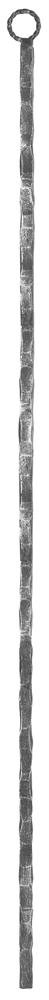 Zwischenstab | Länge: 1000 mm | Material: 13x13 mm | gehämmert | Stahl S235JR, roh