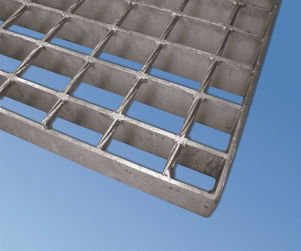 SP Industrie-Gitterrost | Maße: 500x1000 mm; 34/38 mm; 30/3 mm | S235JR (St37-2), im Vollbad feuerverzinkt