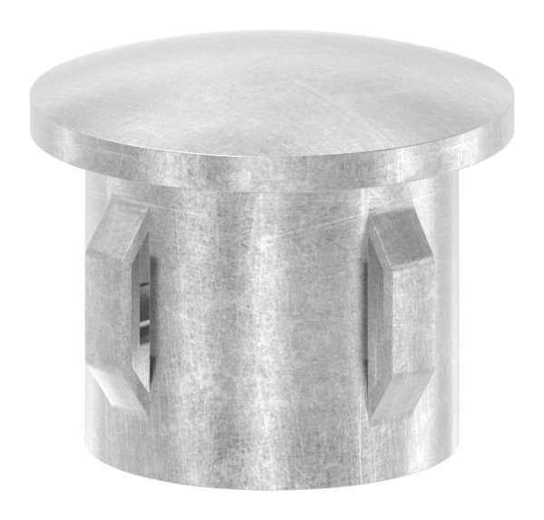 Stahlstopfen | leicht gewölbt | für Ø 33,7x1,8-2,2 mm | Stah S235JR, roh