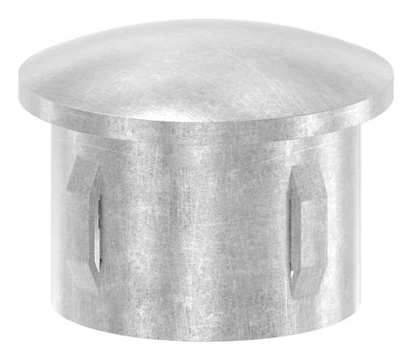 Stahlstopfen | leicht gewölbt | für Ø 42,4x2,5-2,9 mm | Stah S235JR, roh