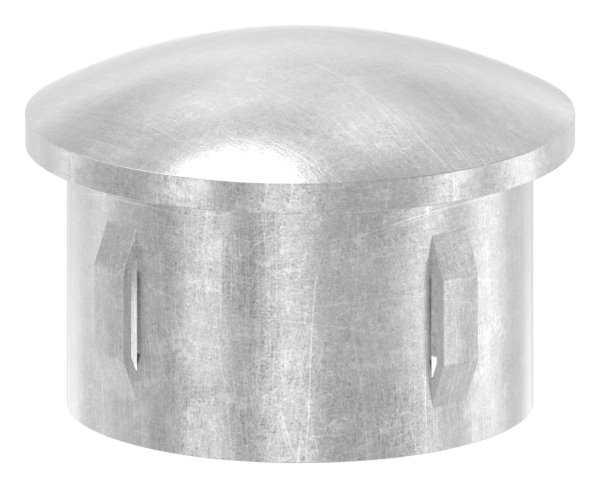 Stahlstopfen | leicht gewölbt | für Ø 48,3x2,5-2,9 mm | Stah S235JR, roh