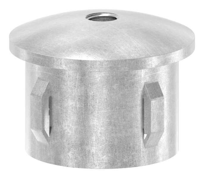 Stahlstopfen | leicht gewölbt | mit M8 | für Rundrohr Ø 42,4x1,8-2,2 mm | Stahl S235JR, roh