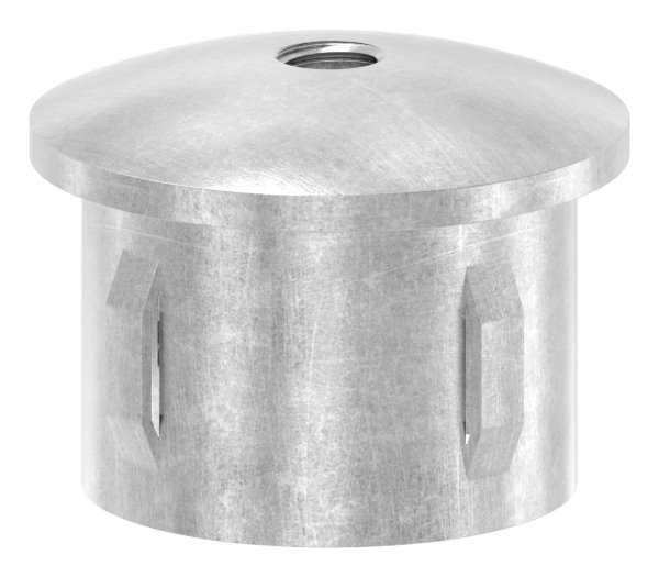 Stahlstopfen   leicht gewölbt   mit M8   für Rundrohr Ø 42,4x2,5-2,9 mm   Stahl S235JR, roh