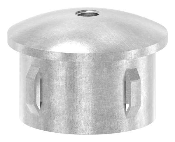 Stahlstopfen | leicht gewölbt | mit M8 | für Rundrohr Ø 48,3x1,8-2,2 mm | Stahl S235JR, roh