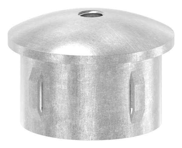 Stahlstopfen | leicht gewölbt | mit M8 | für Rundrohr Ø 48,3x2,5-2,9 mm | Stahl S235JR, roh