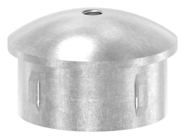 Stahlstopfen | leicht gewölbt | mit M8 | für Rundrohr Ø 60,3x2,5-2,9 mm | Stahl S235JR, roh
