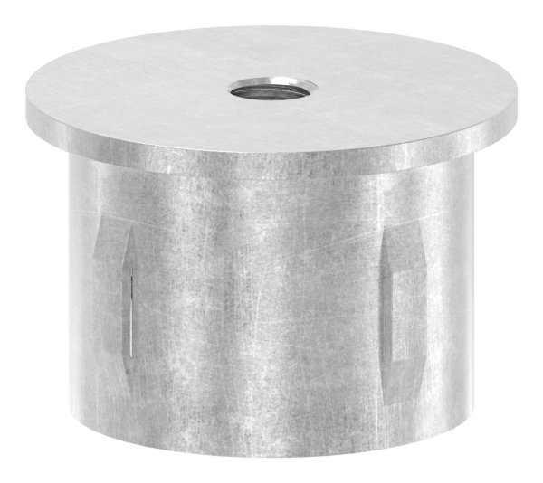 Stahlstopfen   mit M8   flach   für Rohr Ø 42,4 mm   Stahl (Roh) S235JR