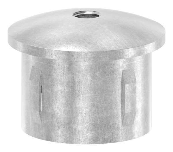 Stahlstopfen   mit M8   leicht gewölbt   für Rohr Ø 42,4 mm   Stahl (Roh) S235JR