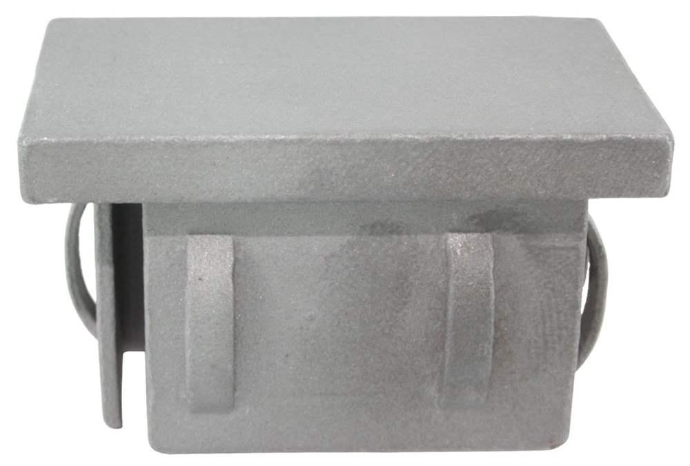 Stahlstopfen flach | für Rohr 60x40x2,0-3,0 mm | Stahl S235JR, roh