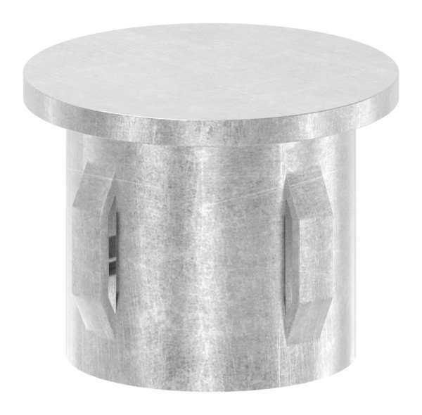 Stahlstopfen flach | für Rundrohr Ø 33,7x2,5-2,9 mm | Stahl S235JR, roh