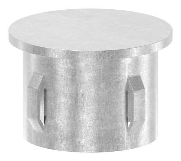 Stahlstopfen flach | für Rundrohr Ø 42,4x1,8-2,2 mm | Stahl S235JR, roh