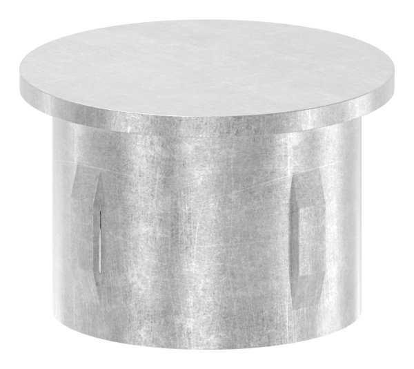 Stahlstopfen flach | für Rundrohr Ø 42,4x3,0-3,5 mm | Stahl S235JR, roh