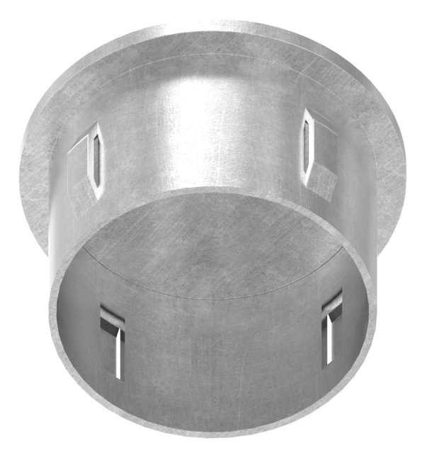 Stahlstopfen flach   für Rundrohr Ø 48,3x2,5-2,9 mm   Stahl S235JR, roh