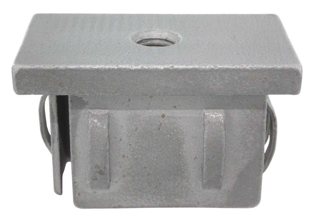 Stahlstopfen flach | mit M8 | für Rohr 40x20x1,5-2,0 mm | Stahl S235JR, roh