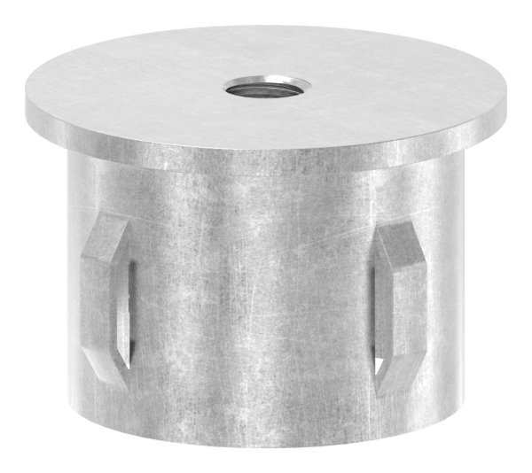 Stahlstopfen flach | mit M8 | für Rundrohr Ø 42,4x1,8-2,2 mm | Stahl S235JR, roh